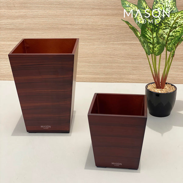 WOODEN DUSTBIN - Mason Home by Amarsons - Lifestyle & Decor