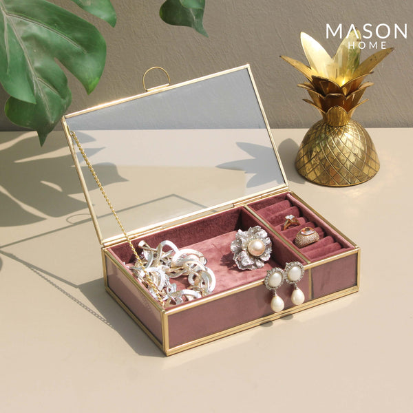 MILAN JEWELLERY BOX - DUSTY PINK