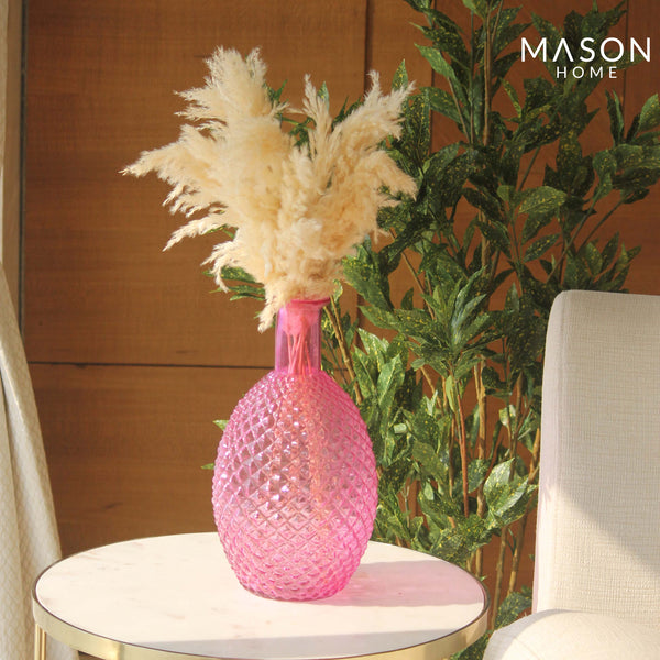 PINEAPPLE VASE PINK - LARGE