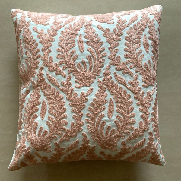 CORAL FERN MOTIF CUSHION - Mason Home by Amarsons - Lifestyle & Decor