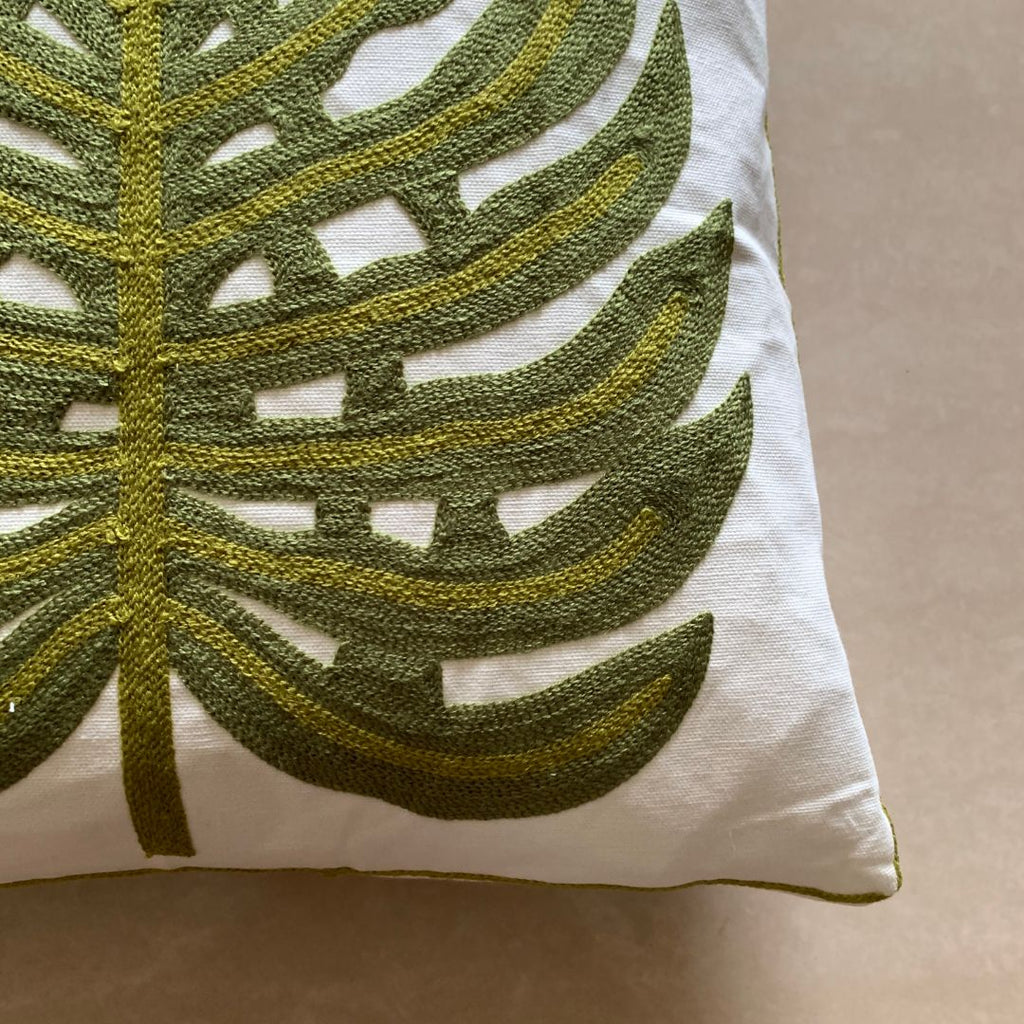 MONSTERRA GREEN CUSHION - Mason Home by Amarsons - Lifestyle & Decor