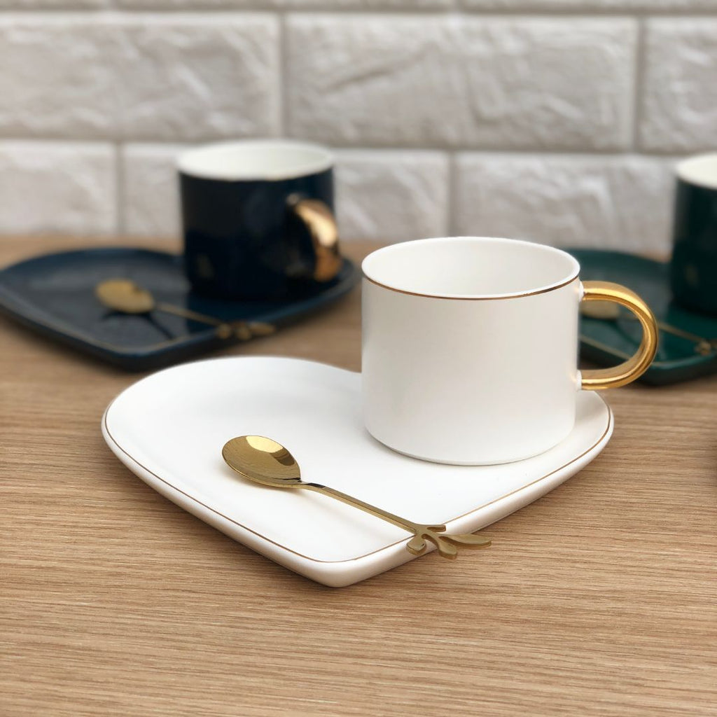 HEART CUP & SAUCER - SNOW WHITE - Mason Home by Amarsons - Lifestyle & Decor