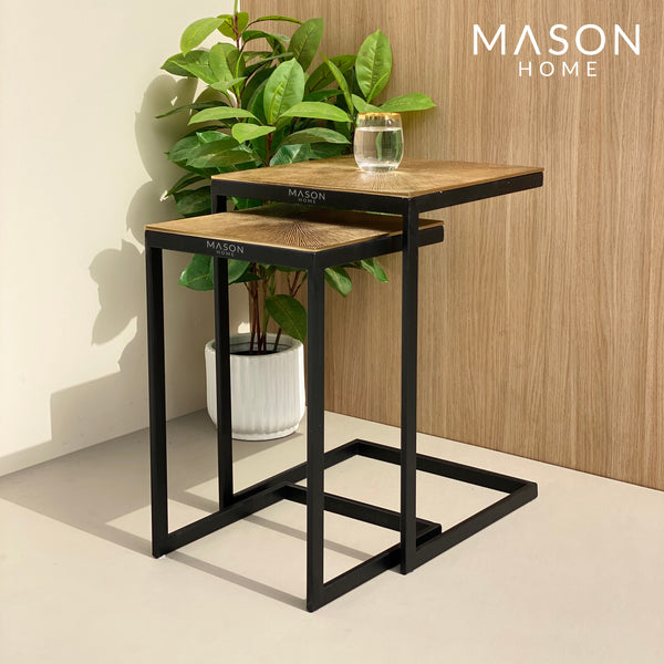 GHANA TABLE SQUARE GOLD - Mason Home by Amarsons - Lifestyle & Decor