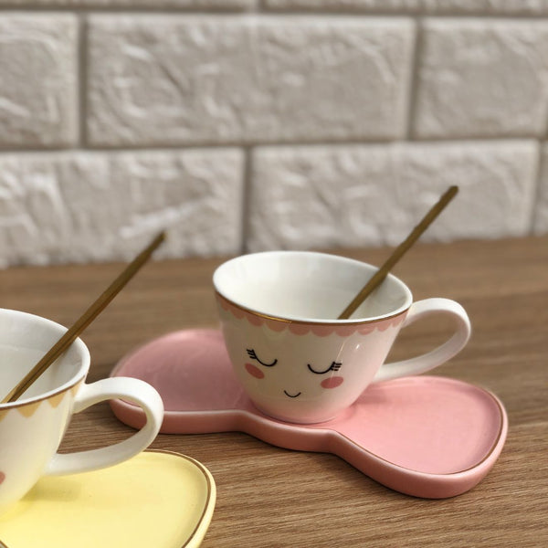 BOW TIE CUP - BABY PINK