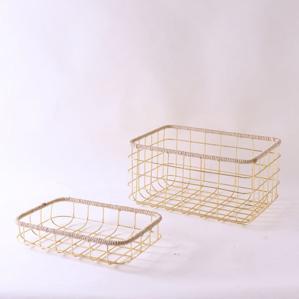 SOCHI BASKET GOLD - BIG - Mason Home by Amarsons - Lifestyle & Decor