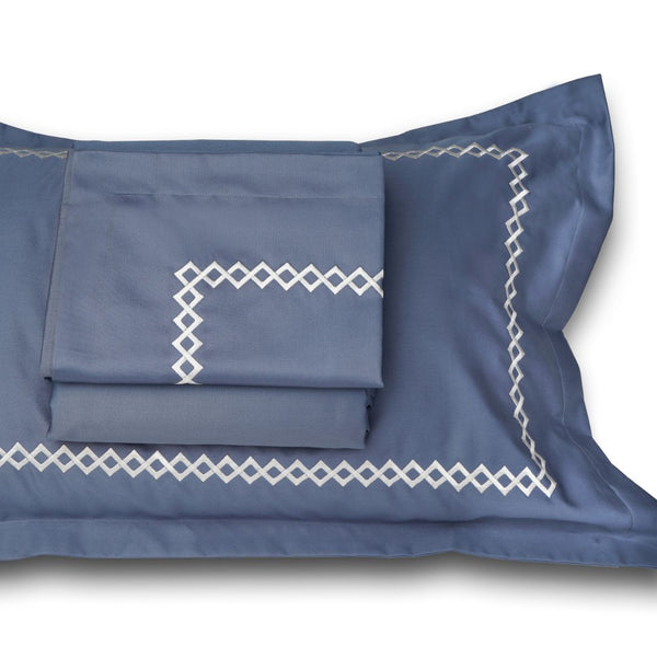 CUBES BEDDING SET - MOONLIGHT BLUE