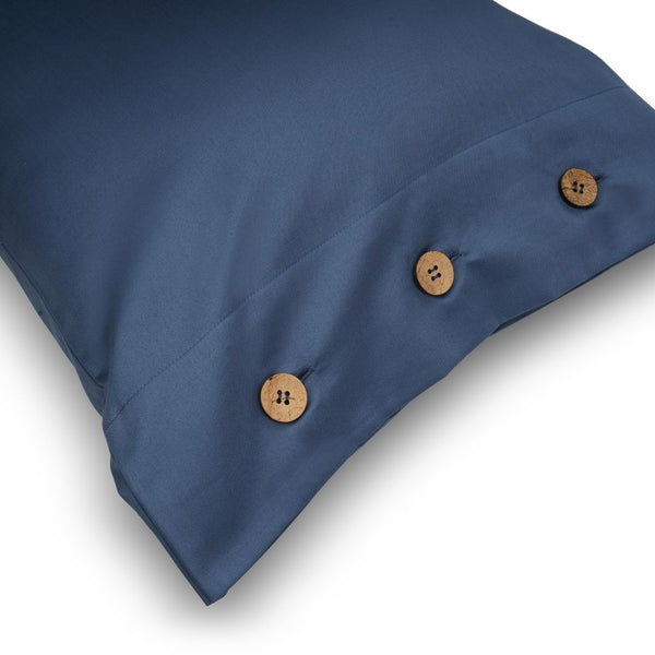 BUTTONED BEDDING SET - MOONLIGHT BLUE - Mason Home by Amarsons - Lifestyle & Decor