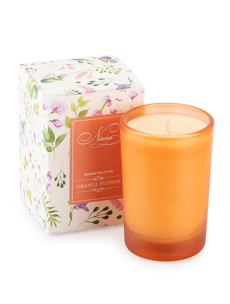 ORANGE FLOWER CANDLE