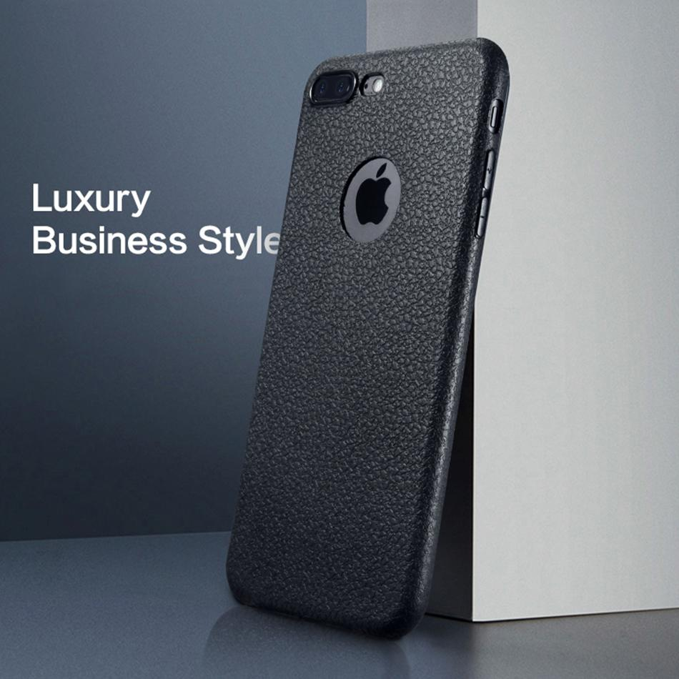 Ultra Thin Soft Leather Phone Cases For  iPhone 7 / 8 / 7 Plus / 8 Plus / X
