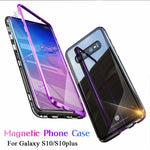 Magnetic Adsorption Flip Phone Case for Samsung S10 Plus
