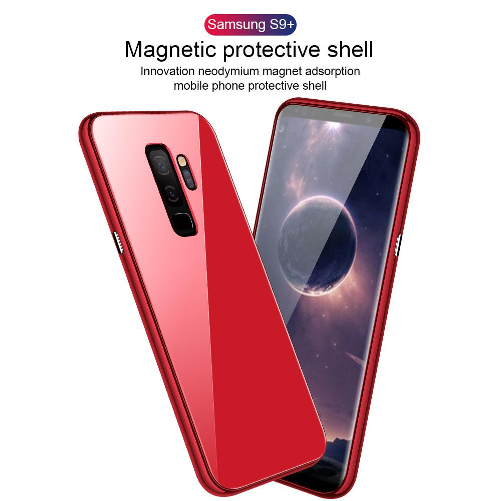 Fashion Color Magnetic Glass Phone Case For Samsung Galaxy Note 8/Note 9/S8/S8 Plus/S9/S9 Plus