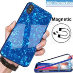360° Full Protective Magnetic Glass Case For iPhone X / XS / XR / XS MAX