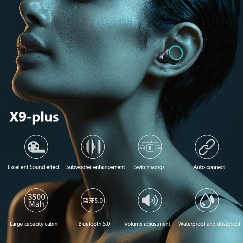 X9/X9-PLUS waterproof in-ear Invisible wireless Bluetooth headset