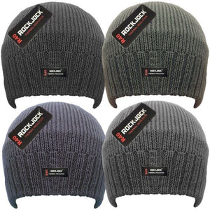 Mens Plain Beanie Thermal Lined