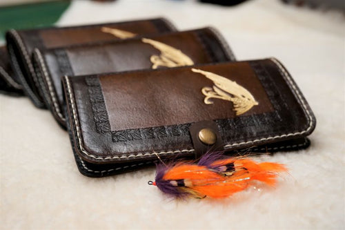 Two colored tube fly wallet