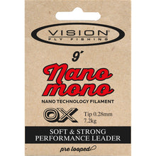 Load image into Gallery viewer, Vision NANO MONO 9ft Tapered Leader