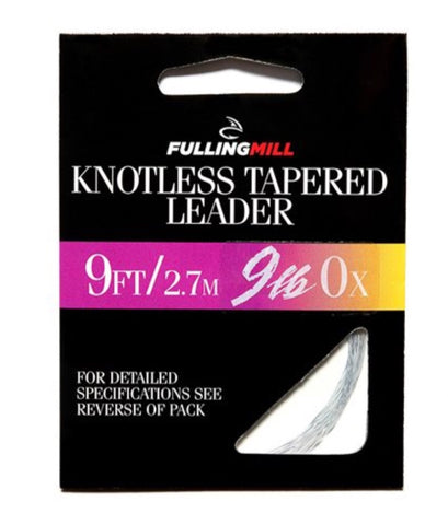 FullingMill Knotless Tapered Leader 9ft 9lbs 0X