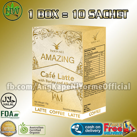1 Box of Amazing Coffee Latte with Barley and Alkaline