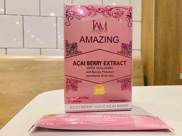 1 Box Acai Berry with Collagen and Bacopa Monnieri (10 Sachet) FREE SHIPPING!