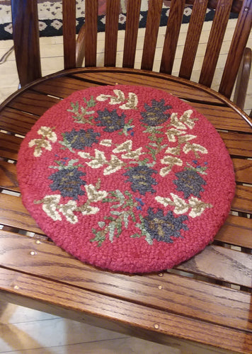 Red Pinecone Chair Pad