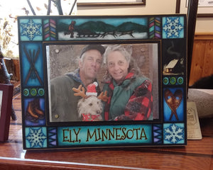 Ely Minnesota Winter Picture Frame