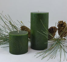 Load image into Gallery viewer, Balsam & Cedar Pillar Candle