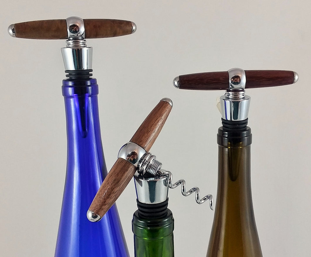 2 in 1 Corkscrew Bottle Stopper