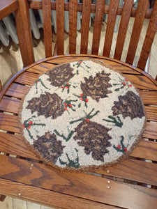 Chair Pad Brown Pinecone
