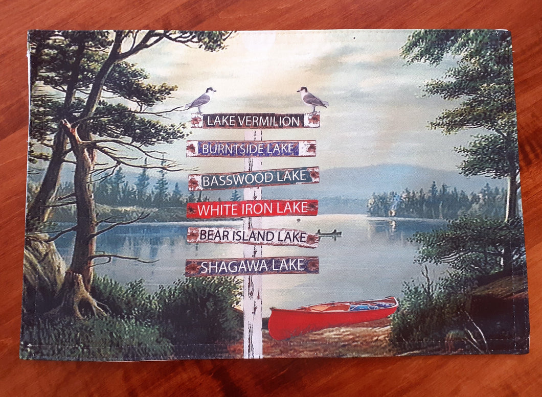 Lake Signs Placemat Set