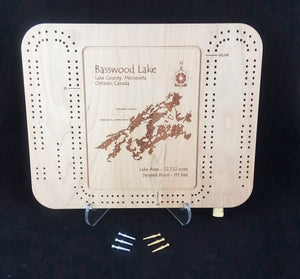 Cribbage Board - Minnesota Lakes