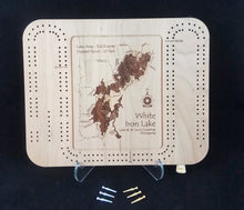 Load image into Gallery viewer, Cribbage Board - Select Minnesota Lakes