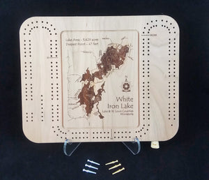 Cribbage Board - Select Minnesota Lakes