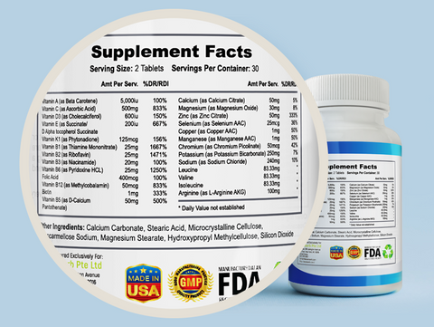 Nutralyte Supplement Facts