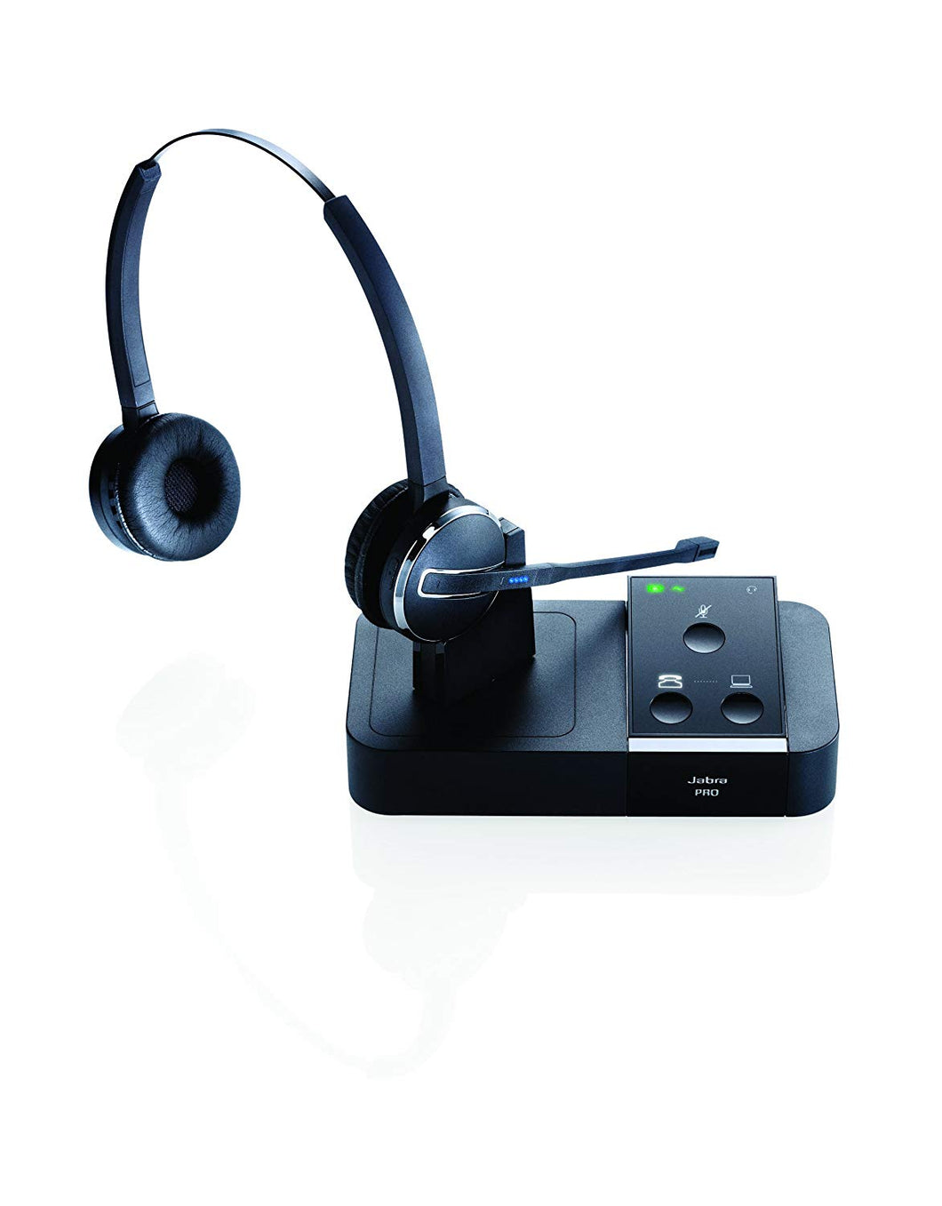 Jabra PRO 9450 DUO Wireless Headset Phone & PC (Certified Renewed)