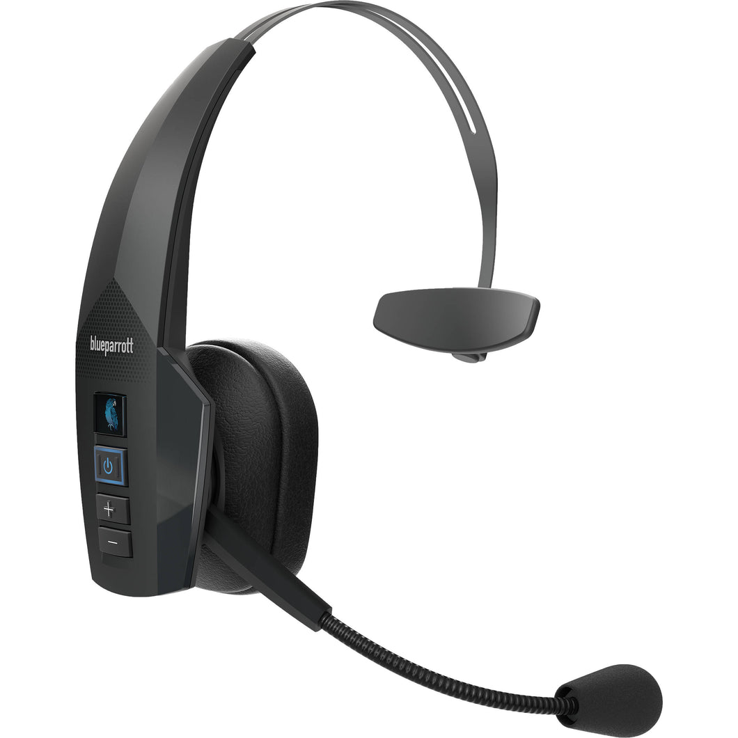 BlueParrott B350-XT Bluetooth Wireless Headset with Ultra Noise-Canceling Microphone for Truckers and Mobile Workers (Certified Renewed)