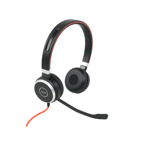 Jabra Evolve 40 USB & 3.5mm DUO Wired Headset (Certified Renewed)