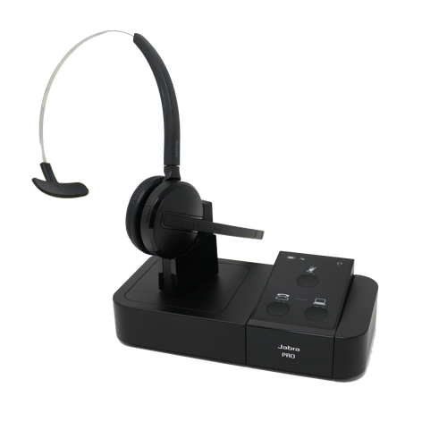 Jabra PRO 9450 Midi Boom Convertible Wireless Headset (Certified Renewed)