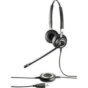Jabra BIZ II 2400 USB DUO Wired Headset (Certified Renewed)