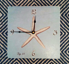 Clock, Valerio Blue Starfish