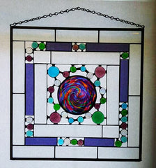 Stained Glass, Purple Swirl