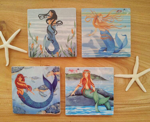 Coaster Set, Mermaid