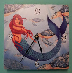 Clock, Raines Mermaid Tile