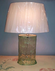 Green Oval Glass Lamp