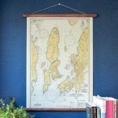 Vintage Scroll Map, 1934 Newport Chart
