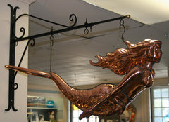 Polished 3D Copper Hanging Mermaid