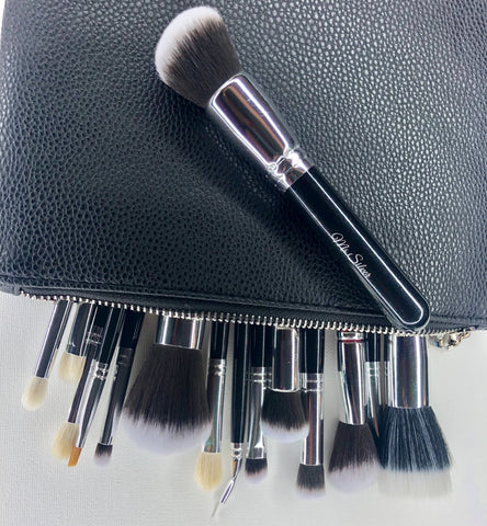 15 Piece Brush Set with Travel Bag