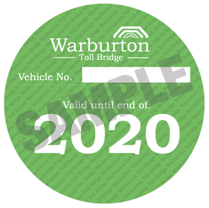 Warburton Toll Bridge 2020 pass