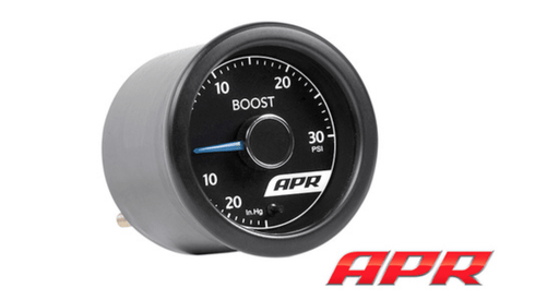APR 30PSI Universal Boost Gauge Kit w/ White Light & Blue Needle - GRDtuned