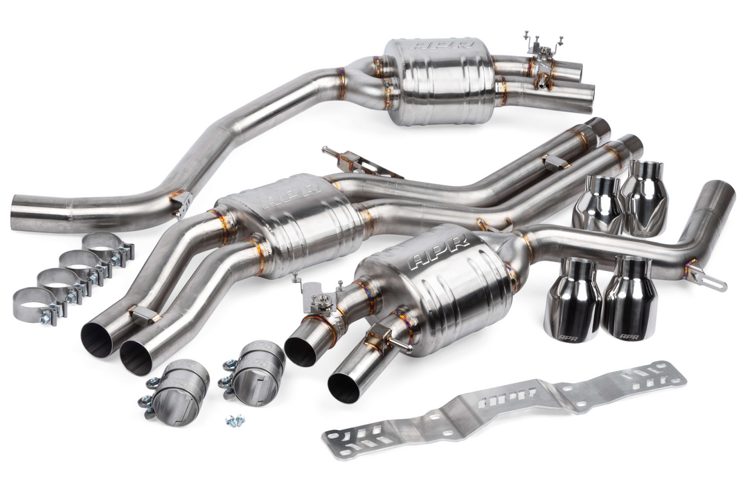 APR Catback Exhaust System with Center Muffler - 4.0 TFSI - C7 S6 AND S7