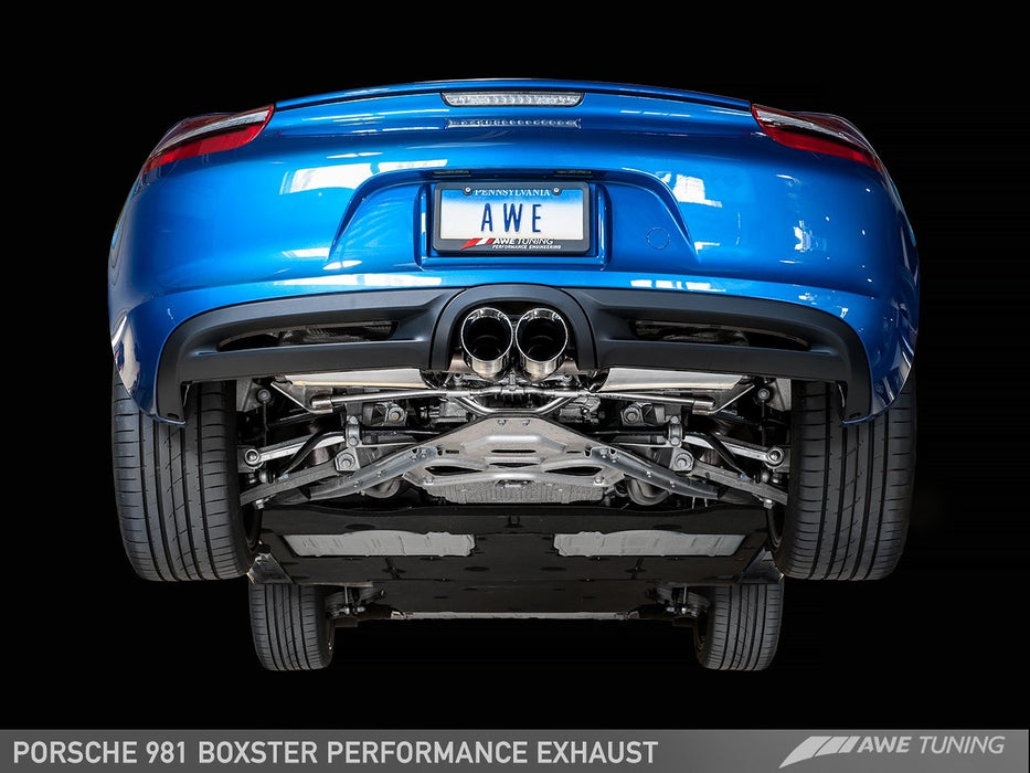 AWE PERFORMANCE EXHAUST FOR PORSCHE 981 BOXSTER - GRDtuned